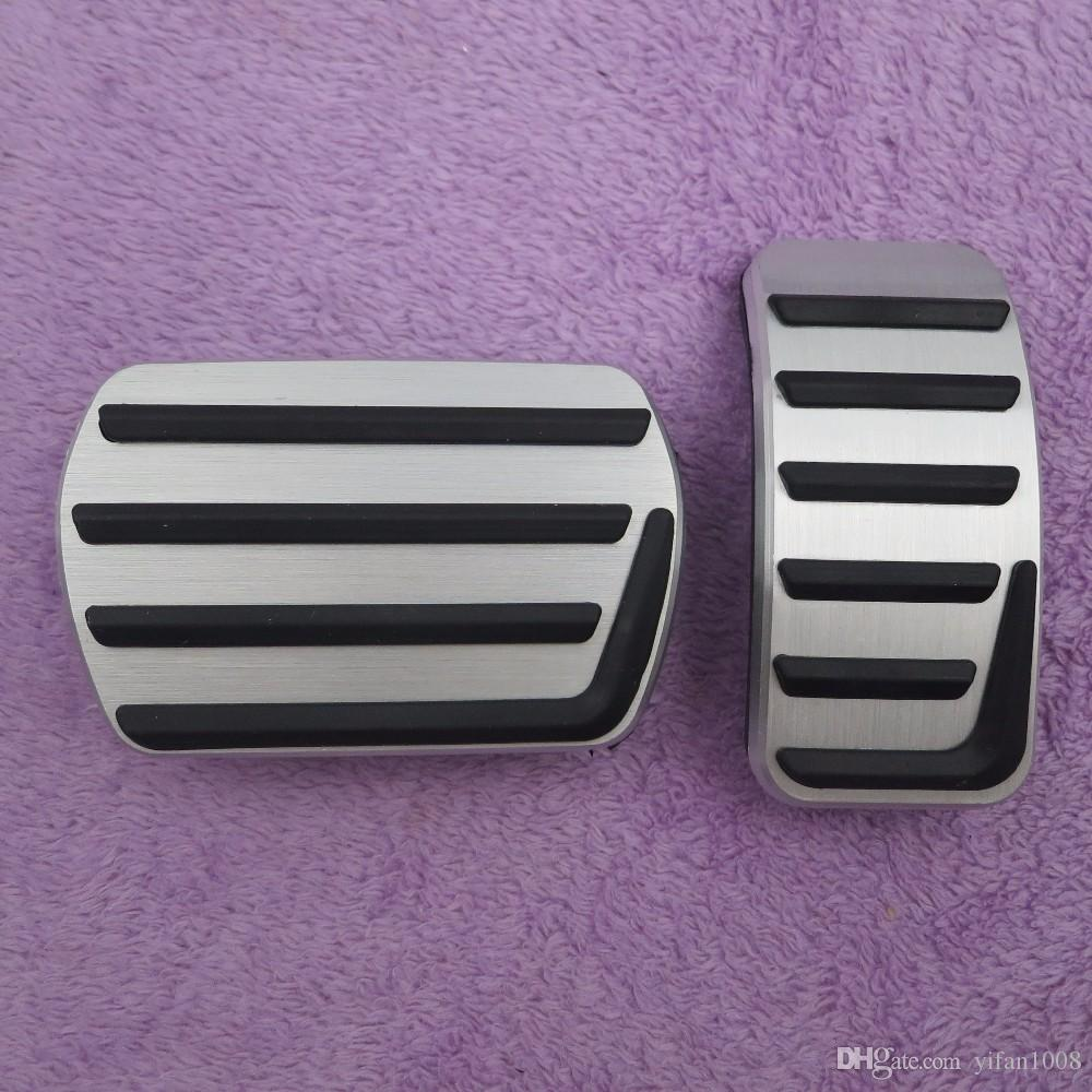 Car Accessories Aluminium Alloy Accelerator gas brake pedal for Volvo S40 V40 C30 AT,non slip pedal plate pads covers styling Beautiful
