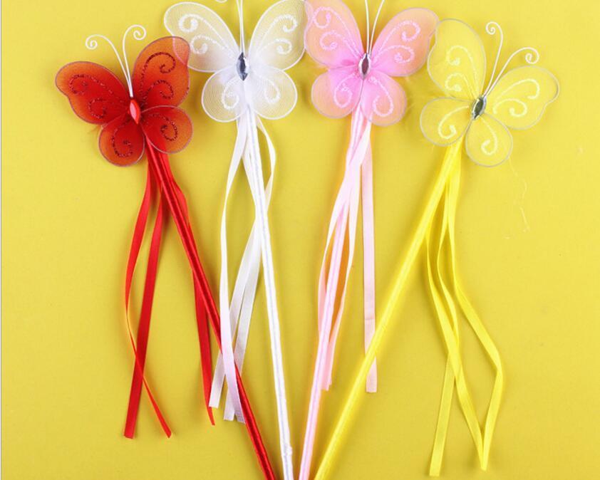 Regalo di Halloween di Natale Principessa Farfalla Fata Bacchetta Magica Bastoncini Festa di compleanno Bomboniera Regalo ragazza i Bianco Rosa Rosso Giallo