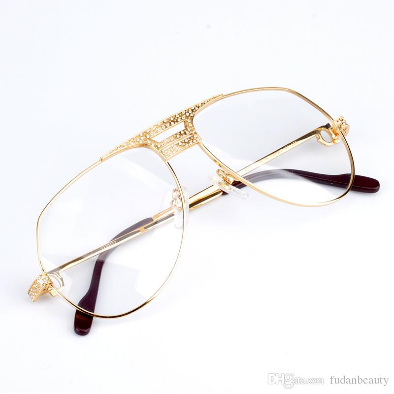 luxury eyeglasses frames men eyeglasses women diamonds metal frame eye clear myopia glasses original eyewear box discount eyeglass frames for men eyeglass - Discount Eyeglasses Frames