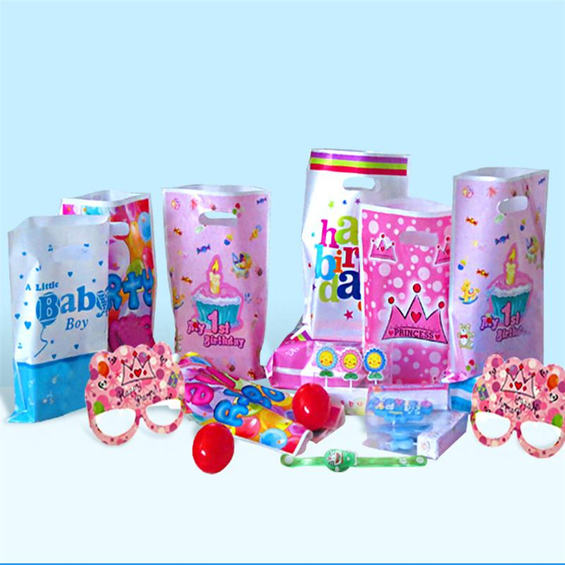 Birthday Party Bags Article Children Holiday Gift Decoration Kids Favour Bag Portable Wedding Candy Lolly Plastic Supplies