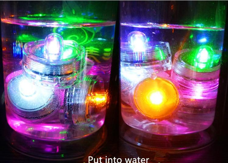 HOT SELLING COLORFUL LED LIGHT SUBMERSIBLE WATERPROOF LED DECORATION FLORAL LIGHTS FOR WEDDING/DANCE PARTY DHL