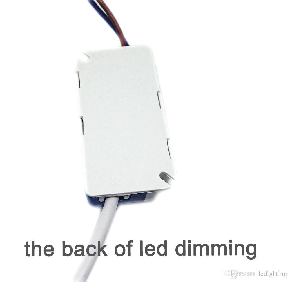 Fuente de alimentación del transformador del regulador 4W del LED que amortigua Uso para el plástico ligero del panel / package