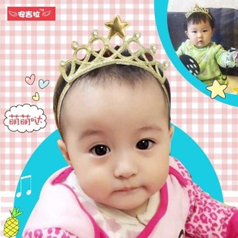 Yeni Varış Pırıltılı Taç Bebek Kafa Kızlar Saç Bandı Yeni Başkanı Wrape Bebek Saç Aksesuarları Prenses Tiara Kafa Bandı