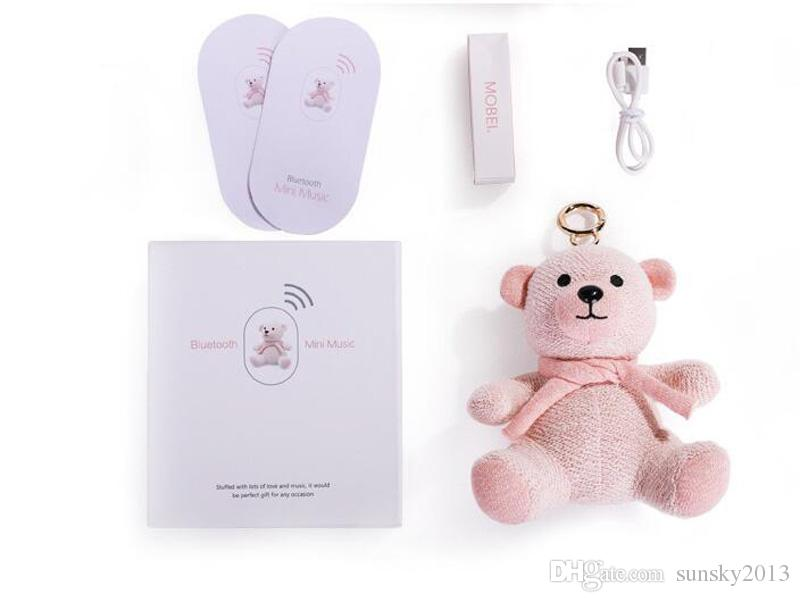 Bear Toy Sound Box Bluetooth Mini Speaker Cute Cartoon Subwoofers with TF Card Slot MP3 Music Player for Kids Christmas Gift