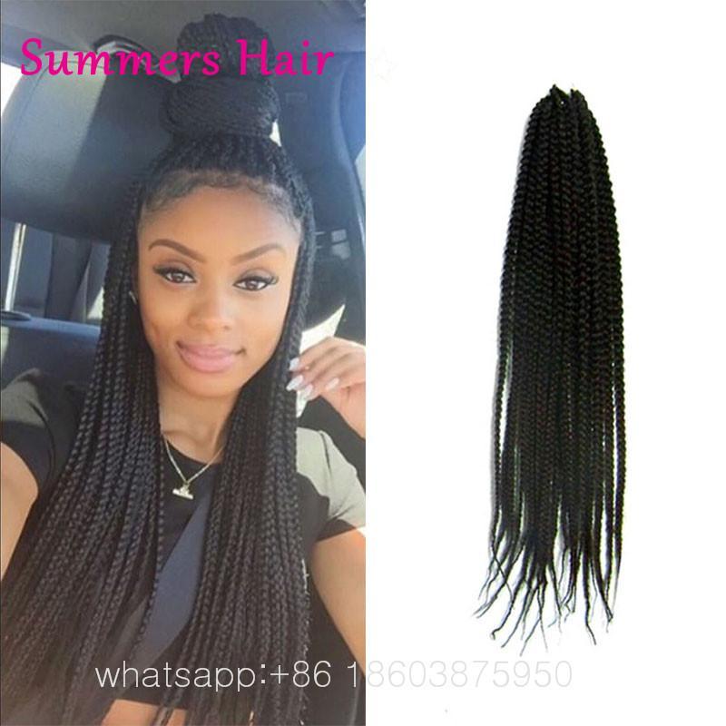Wholesale 18 3s Crochet Box Braid Hair 20standspack Box Braids