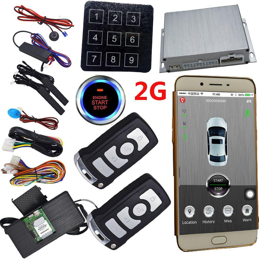 2019 gsm gps car keyless entry proximity sensor security. Black Bedroom Furniture Sets. Home Design Ideas