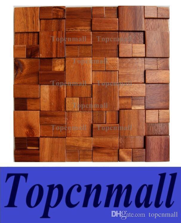 2017 3d wooden mosaic tiles interior design wall tiles building
