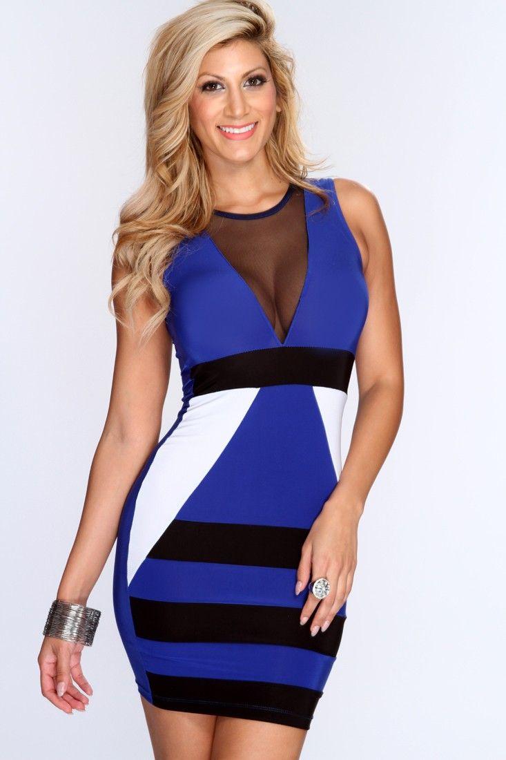 69ce200d64 Acquista Vestito Da Partito Donna Moda Vestito Sexy Hot Club Wear Pizzo New  Lady's Dreee Giallo E Blu i Taglia: M, L A $22.74 Dal Jesais   DHgate.Com