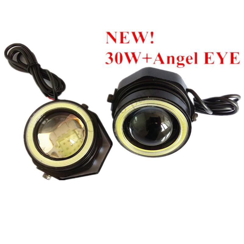 Auto Eagle Eyes Led 30w Angel Eyes With Cob Drl Daytime Running Lights  Daylamps Searchlights Universal Waterproof Driving Light Led Driving Lights  From ...