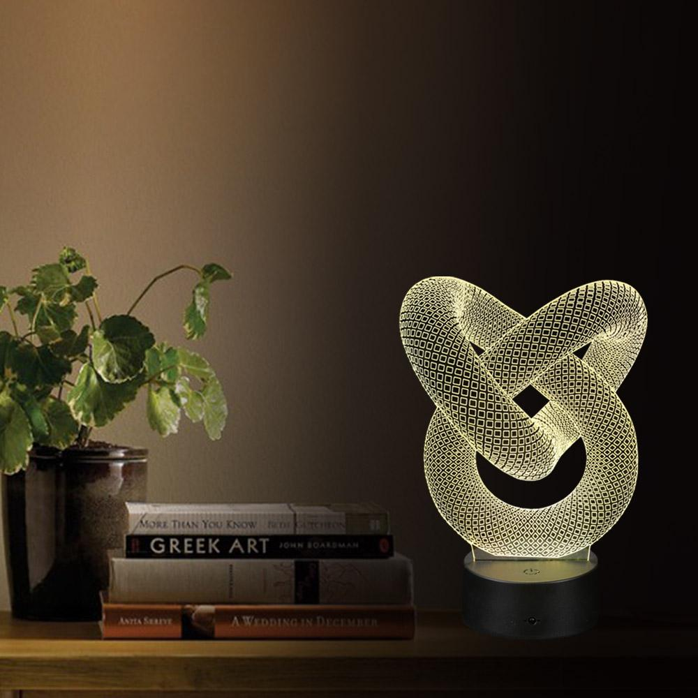 2019 Wholesale 3d Optical Illusion Led Table Night Light Usb Cable