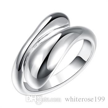 Wholesale  - 小売価格クリスマスプレゼント、送料無料、新しい925銀ファッションリングR012