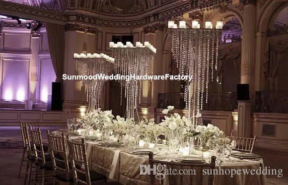 Décoration de mariage vase à fleur en cristal pour arrangements floraux cristal vases en acrylique pour la décoration de la maison cadeau de mariage