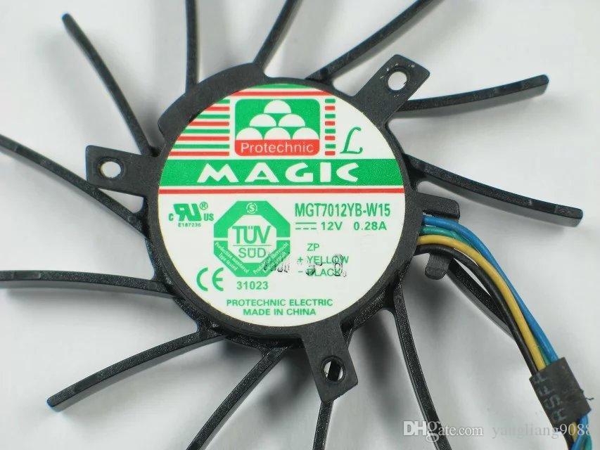 MAGIC MGT7012YB-W15 DC 12V 0.28A 4 선 4 핀 커넥터 45mm 서버 라운드 냉각 팬