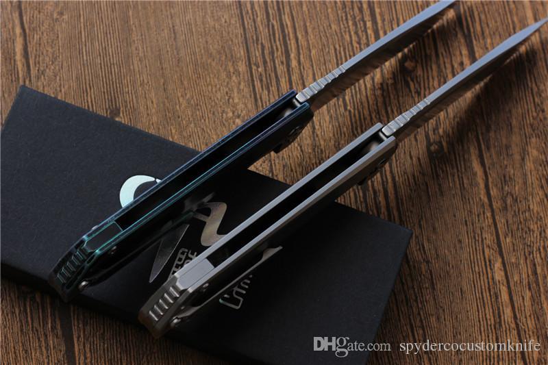NEW CH3507 Flipper folding knife M390 Blade ball bearings TC4 Titanium handle camping hunting pocket fruit Knives EDC tools