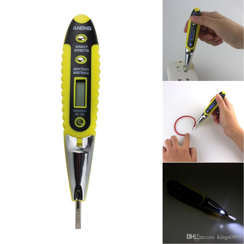Elétrica AC / DC Tensão Detector Medidor Tester Pen 12 V-250 V com Indicador de Instrumentos de Teste Elétrico Da Lâmpada