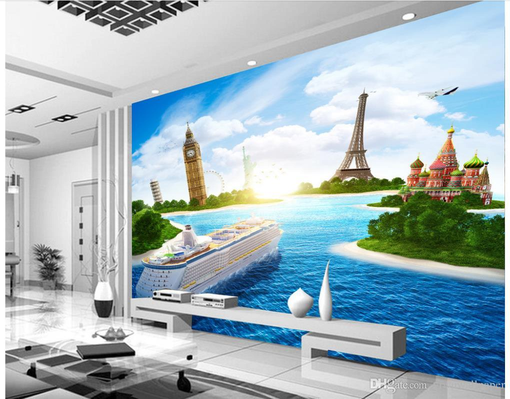 3d Murals Wallpaper For Living Room Cruise Ship Sea View Tv Background Wall  Photo Wall Murals Wallpaper Free Screensavers And Wallpaper Free Wallpaper  From ... Part 61