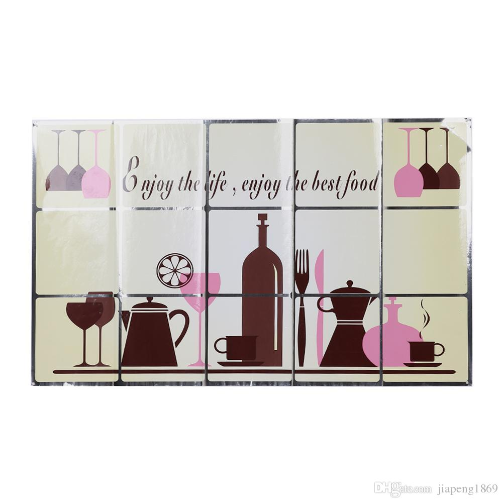 Diy Heat Resistant Oil Proof Removable Wall Stickers Restaurant ...