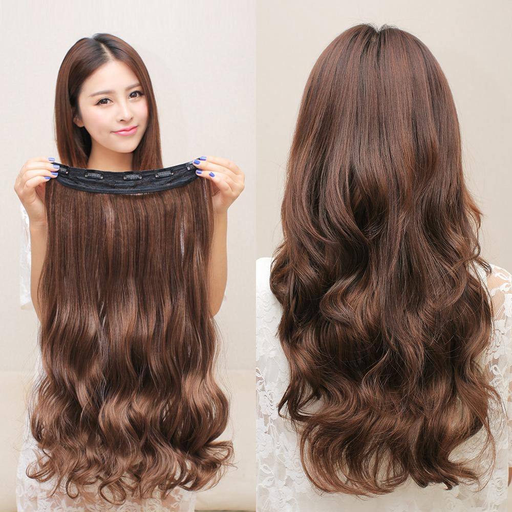 Women Curly Hair Wigs Synthetic Large Wavy Clip Hair Wigs Female Non Trace  Fake Hairpiece Hair Extensions Fluffy Wig UK 2019 From Rong2305107060 bf02ecc12