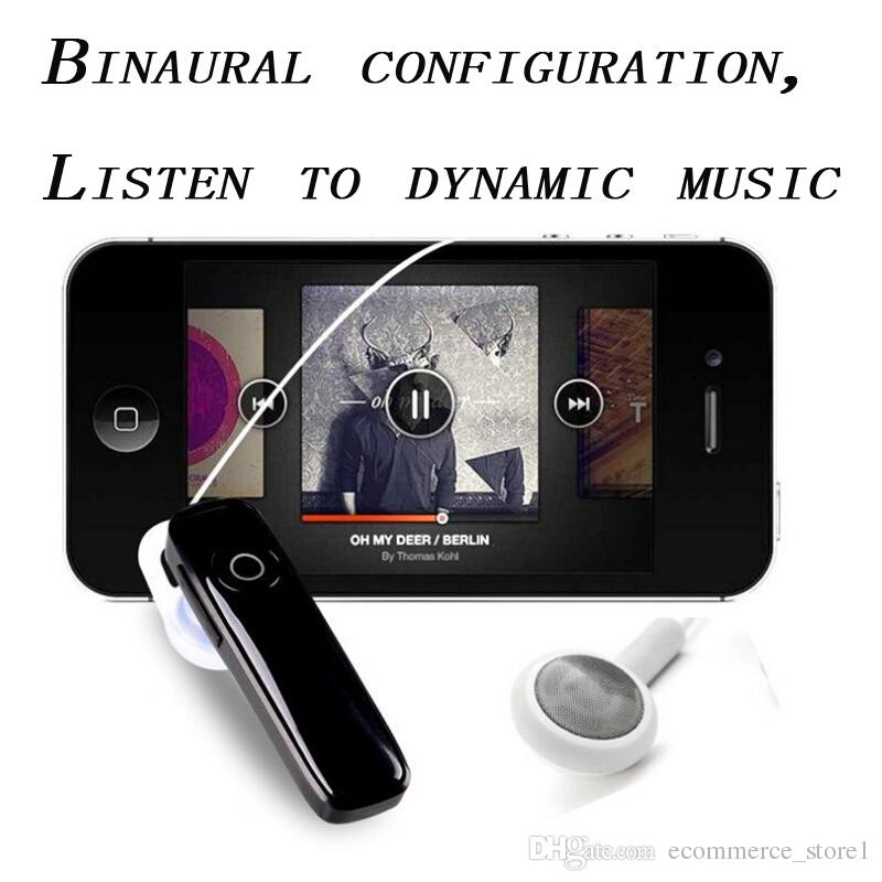 M165 Hot Wireless Stereo Bluetooth Headsets Earphones mini wireless bluetooth handfree universal for all phone With Retail Package