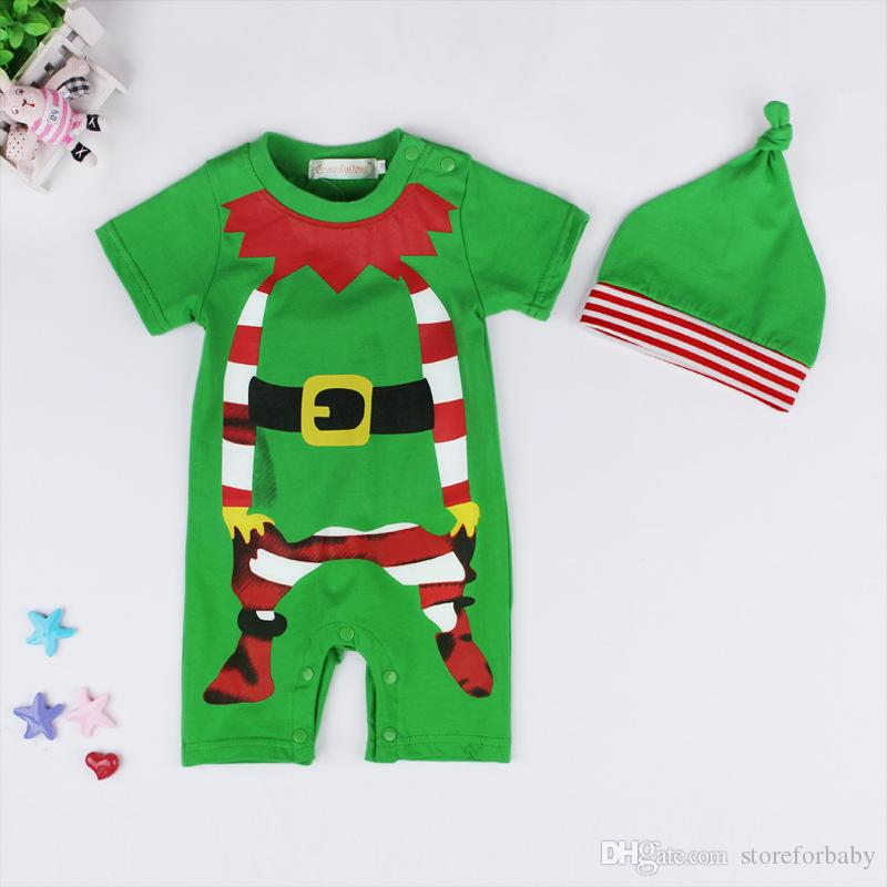 christmas boys clothes rompers sets santa girls christmas clothing suits hats+jumpsuits baby girls baby boys xmas tree clothes infant