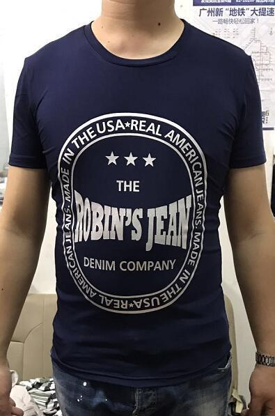 Neue Großhandel-Männer Sommer Herren Robin Jeans T Shirts American Jeans T-Shirt Für Männer Baumwolle T-Shirts T-stücke Robin Jeans Kleidung M-3X