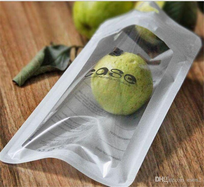 Weiße Zip-Lock-Handy-Zubehör Fall Kopfhörer Shopping Packsack OPP PP PVC Poly-Kunststoff-Verpackung Tasche