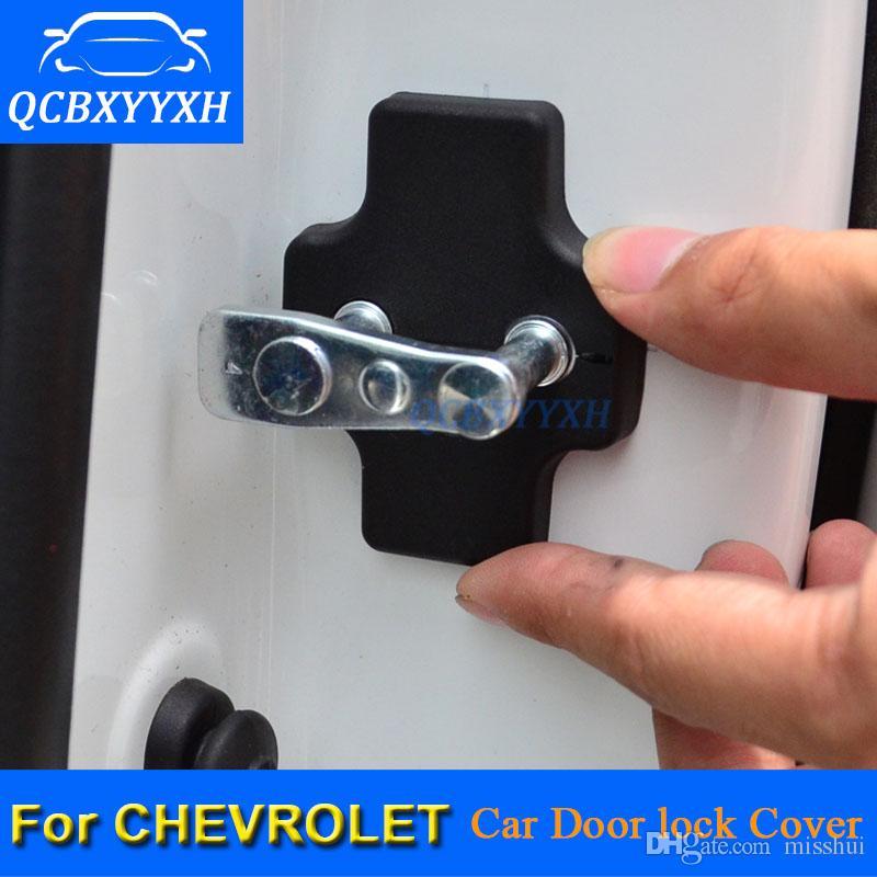 Qcbxyyxh 4 sztuk / partia ABS Car Blokada Drzwi Ochronne Okładki ochronne do Chevrolet Epica iskra Żagla Lova Captiva Cruze Malibu XL Trax Aveo Volt