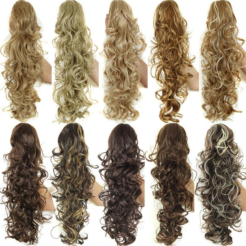 Wholesale 20 Long Claw Drawstring Ponytail Fake Hair Extensions