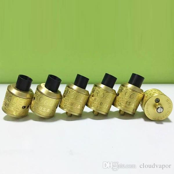Newest Rogue RDA Clone Rebuildable Dripping Atomizer Gold rogue mod rda 24mm Fit 510 Mech Vape Mods DHL free