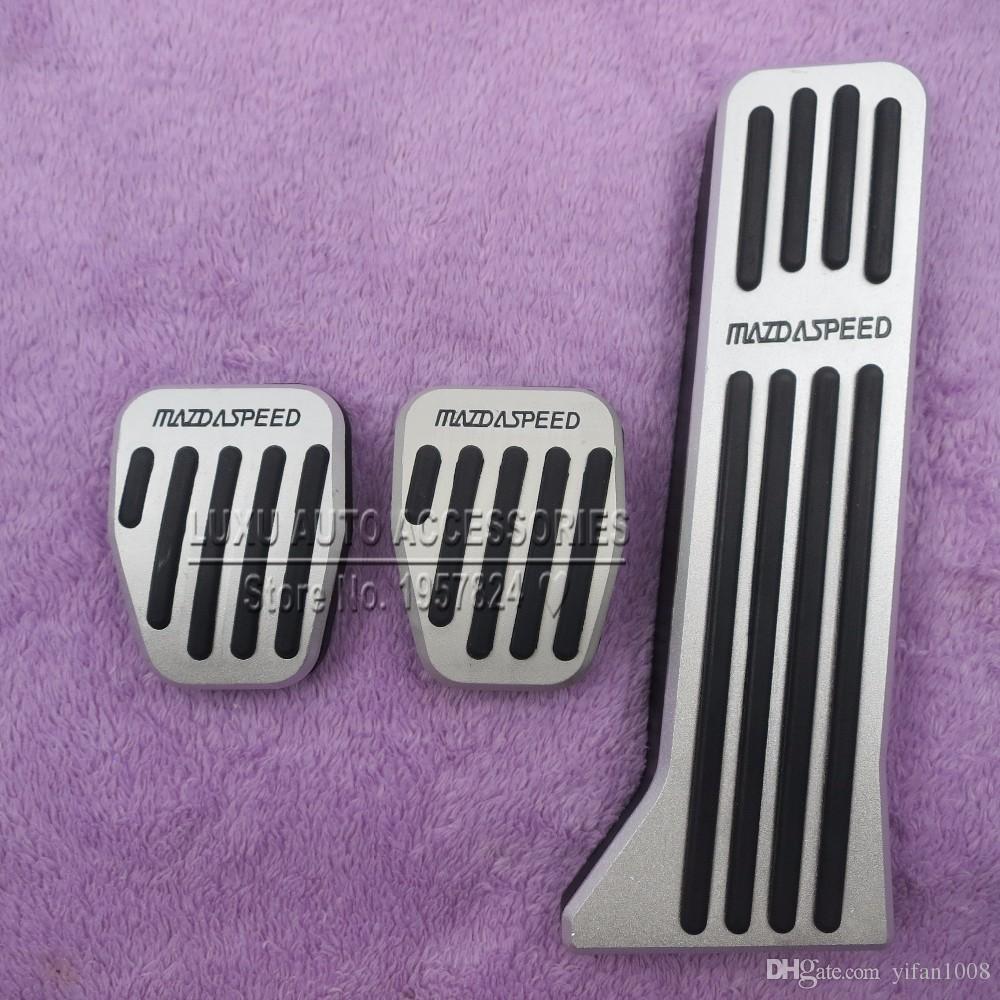 Sport Racing Gas Fuel Brake Footrest Foot Rest Pedal Pads Sticker For Mazda CX-5 CX-4 Mazda 3 Axela Mazda 6 atenza Non-Drilling