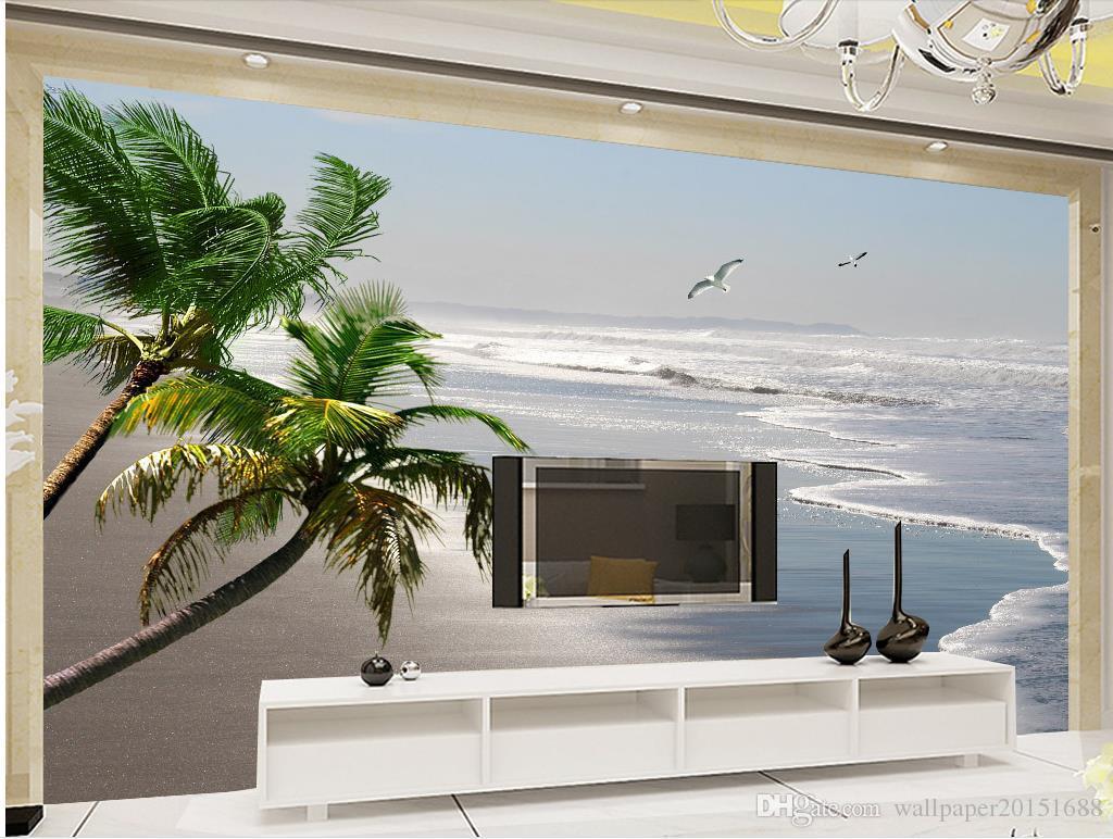 Gut Großhandel Home Schlafzimmer Dekoration Hd Meer Schöne Silber Strand  Landschaft Wandbild 3d Wallpaper 3d Tapeten Für Tv Hintergrund Von  Wallpaper20151688, ...