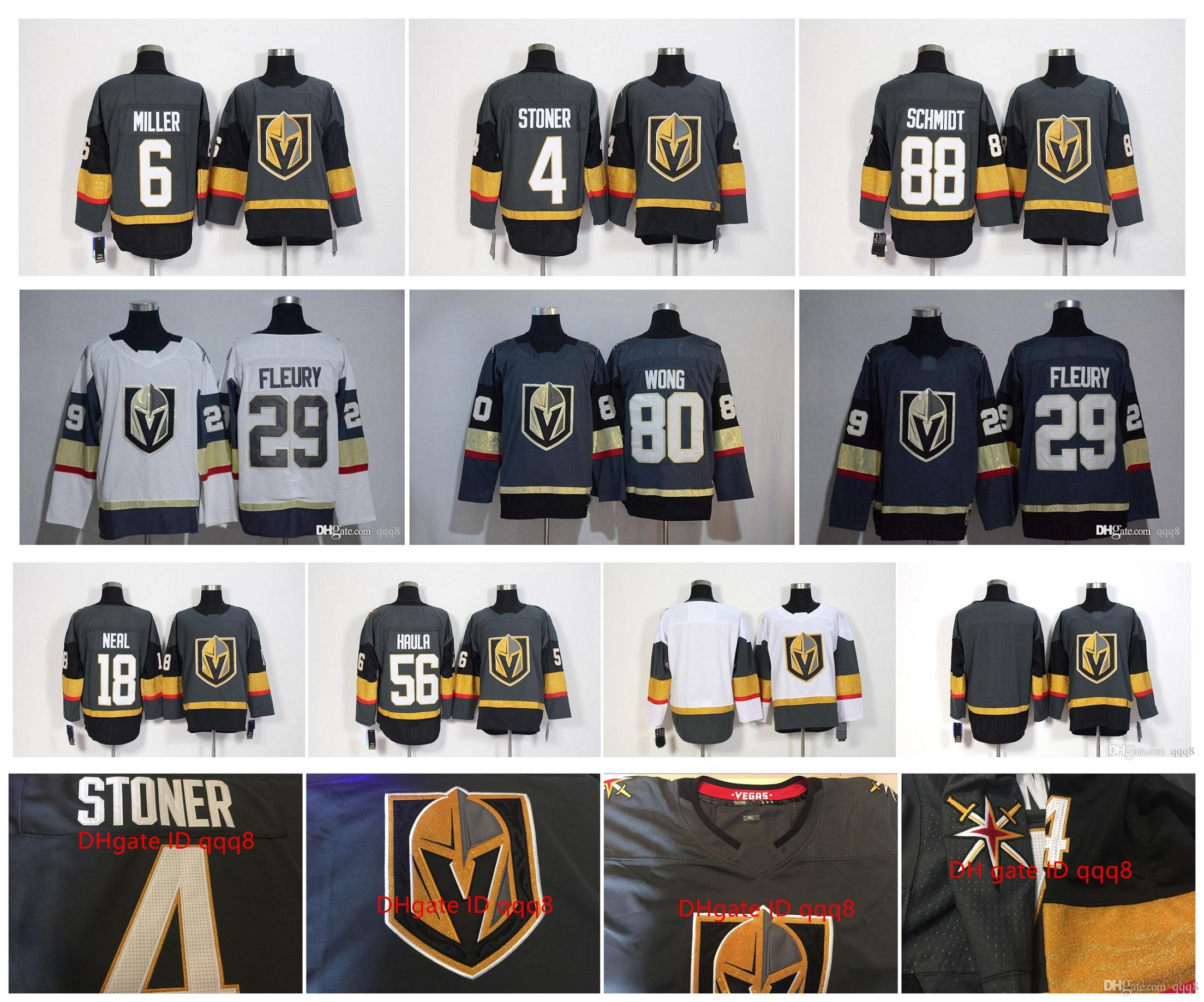 7d6603584 2019 VGK Vegas Golden Knights Jersey 29 Marc Andre Fleury 71 Karlsson 57  Perron 56 Haula 88 Nate Schmidt 18 James Neal 4 Stoner 6 Miller Hockey From  Qqq8, ...