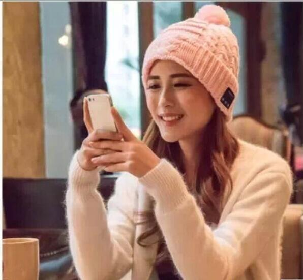 9d075b00080 High Quality Women Wireless Bluetooth V3.0 Smart Woolen Knit Beanie Winter  Sport Hat Headphone Headset Hands Free Music Magic Cap Free DHL Ski Hats  Newborn ...