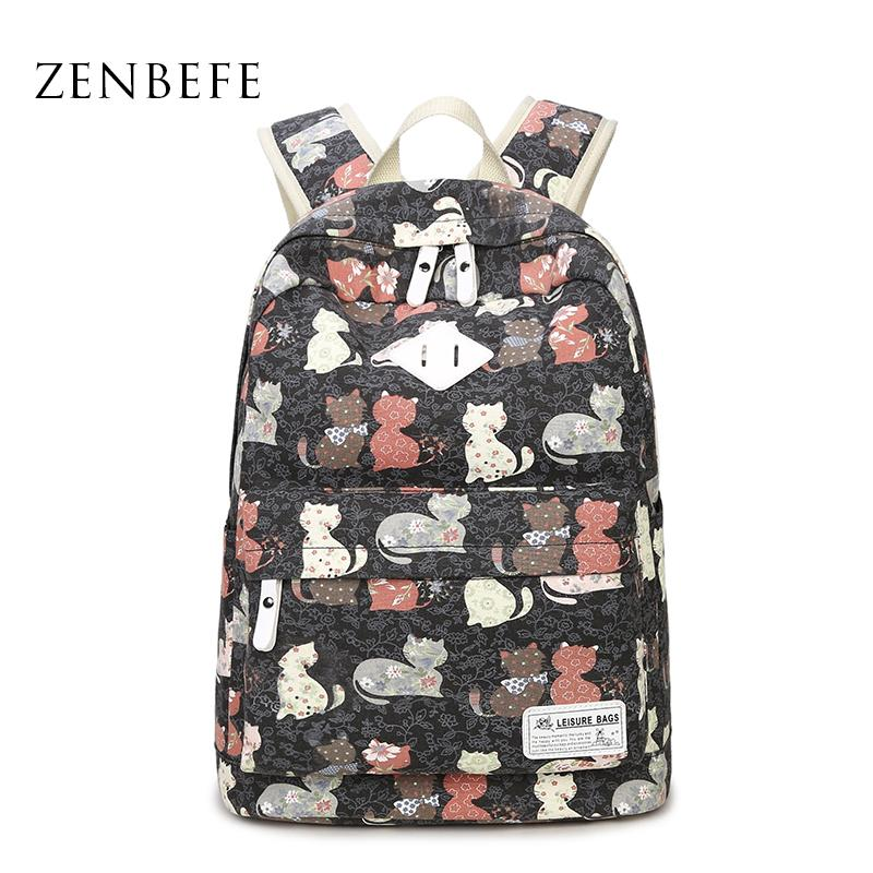 Wholesale Zenbefe Cute Backpack Durable Women Backpack Teenagers ...