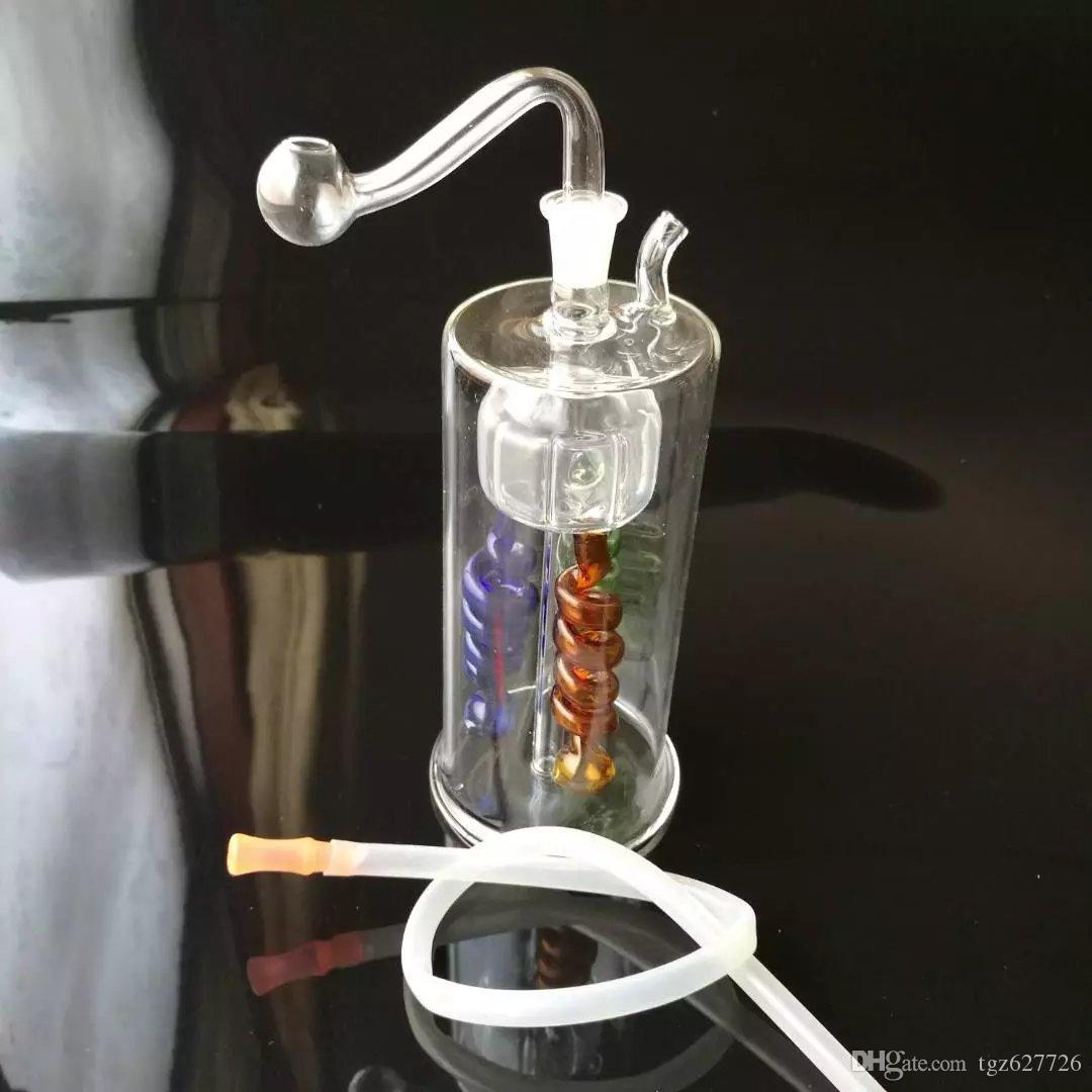 Три столба кальян стеклянные бонги аксессуары , стеклянные курительные трубки красочные мини многоцветные ручной трубы Лучшая ложка стеклянные трубы