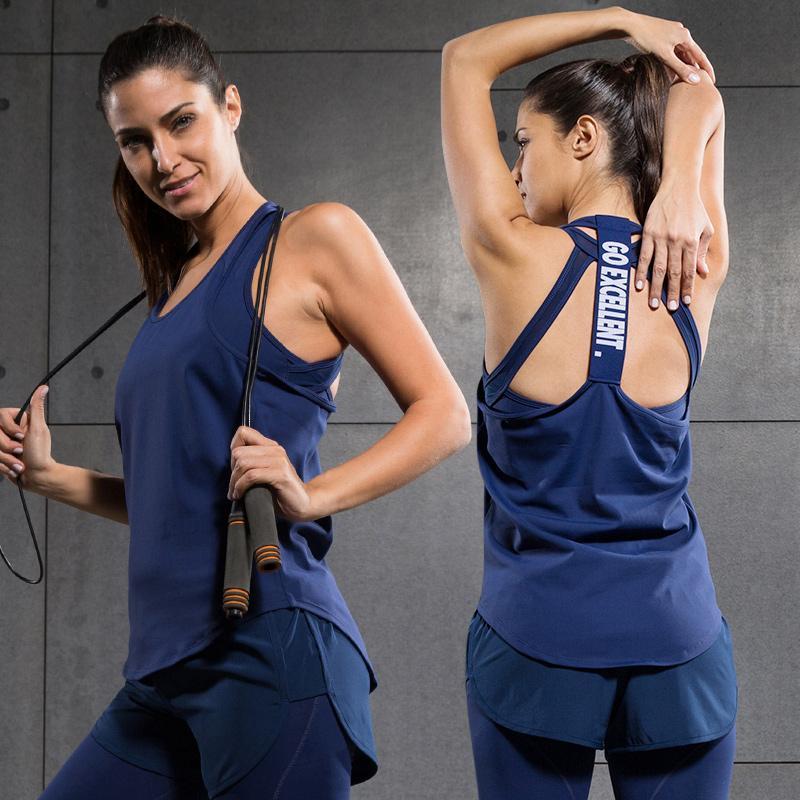b39a0872feec9 Vansydical New Yoga Vest Gym Compression Tights Women s Dry Quick ...