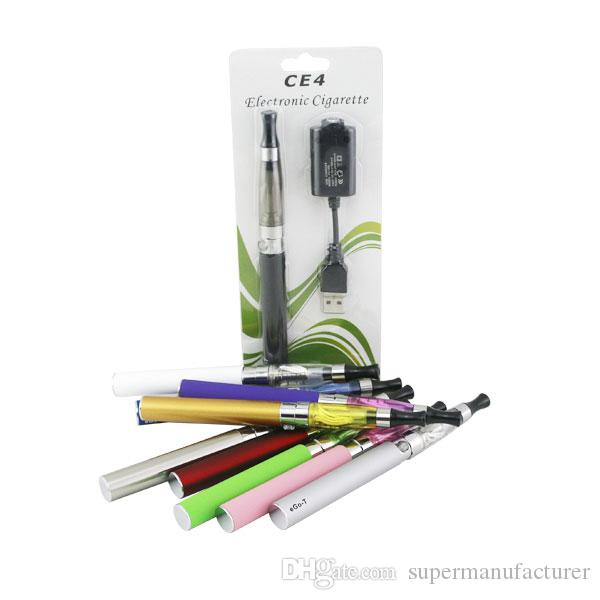Kit de démarrage CE4 ego CE4 Cigarette électronique unique Blister kits e cig 650mah 900mah 1100mah batterie EGO-T blister Clearomizer ecig kit