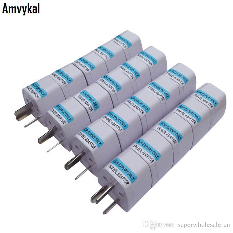 Amvykal Международных универсальных США Великобритания ЕС Для AU Plug адаптер конвертер Австралии зарядного устройство Разъем адаптер Электрический разъем