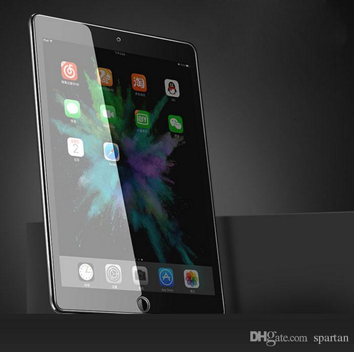 Para ipad 2 3 4 5 6 Pro 10.5 11 Mini 4 mini5 Protector de pantalla antirrayas de vidrio templado de 0.3 mm Nueva película con paquete de papel al por menor
