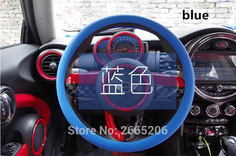 2019 car styling leather texture auto silicone steering wheel cover