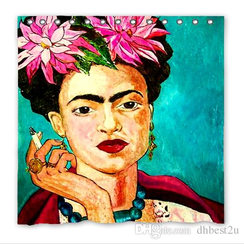 2018 Home Decor Eco Friendly Personalized Fashion Frida Kahlo Waterproof Mildew Resistant Polyester Fabric Bath Shower Curtain Drop Shipping From Dhbest2u