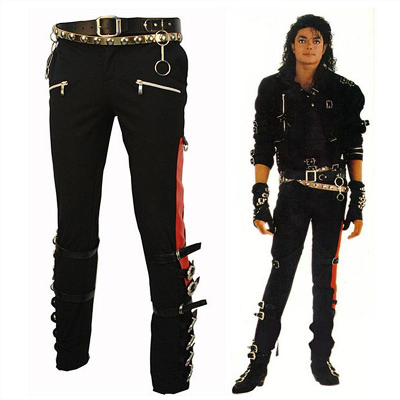 5ba506f1 2019 Wholesale Michael Jackson MJ PROFESSIONAL ENTERTAINERS BAD TROUSERS  PANTS PUNK BLACK BUCKLE MATEL US STYLE From Beasy112, $110.59 | DHgate.Com