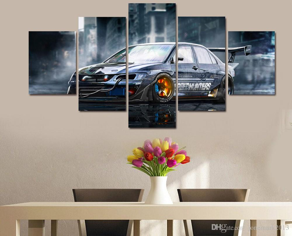 Framed HD Printed Modified car Painting Canvas Print room decor print poster picture canvas /ny-4113