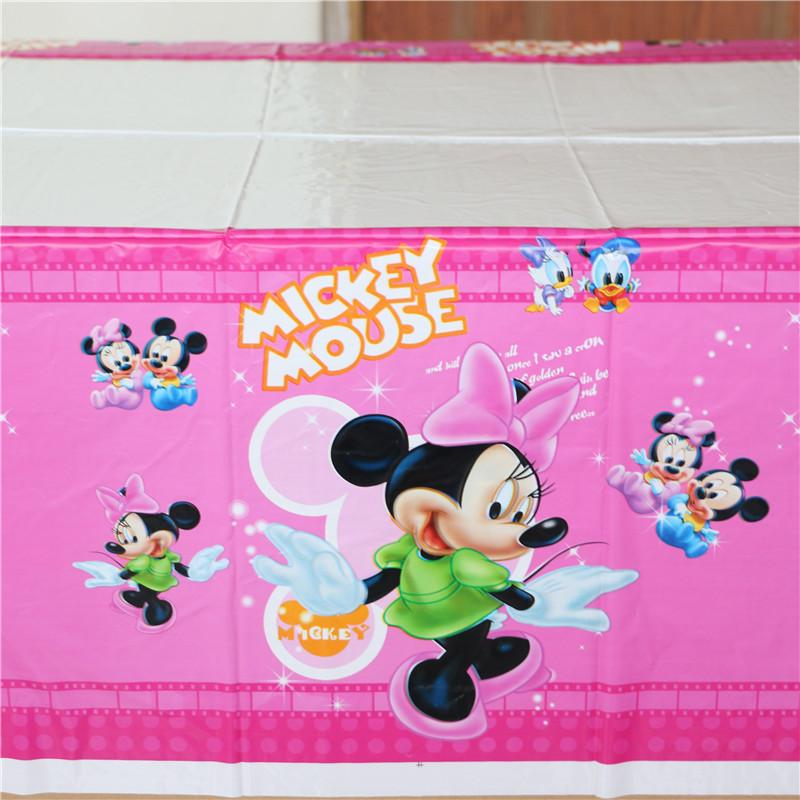 Wholesale Minnie Mouse Birthday Decoration Party 108180cm Plastic