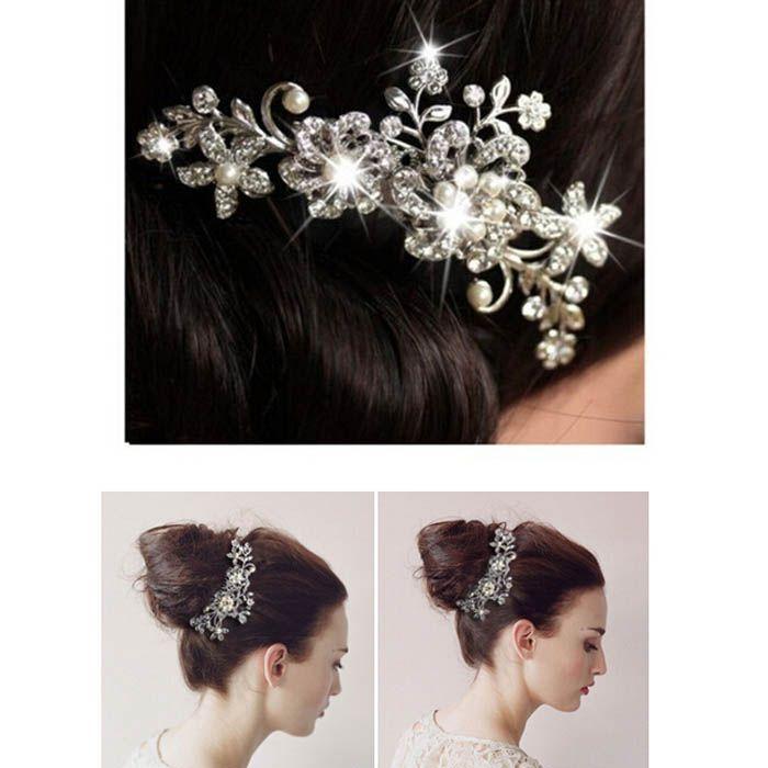 Новый девушки волосы расчески с Кристалл цветок партии свадебные аксессуары для волос горный хрусталь свадьба для новобрачных оголовье партии головной убор