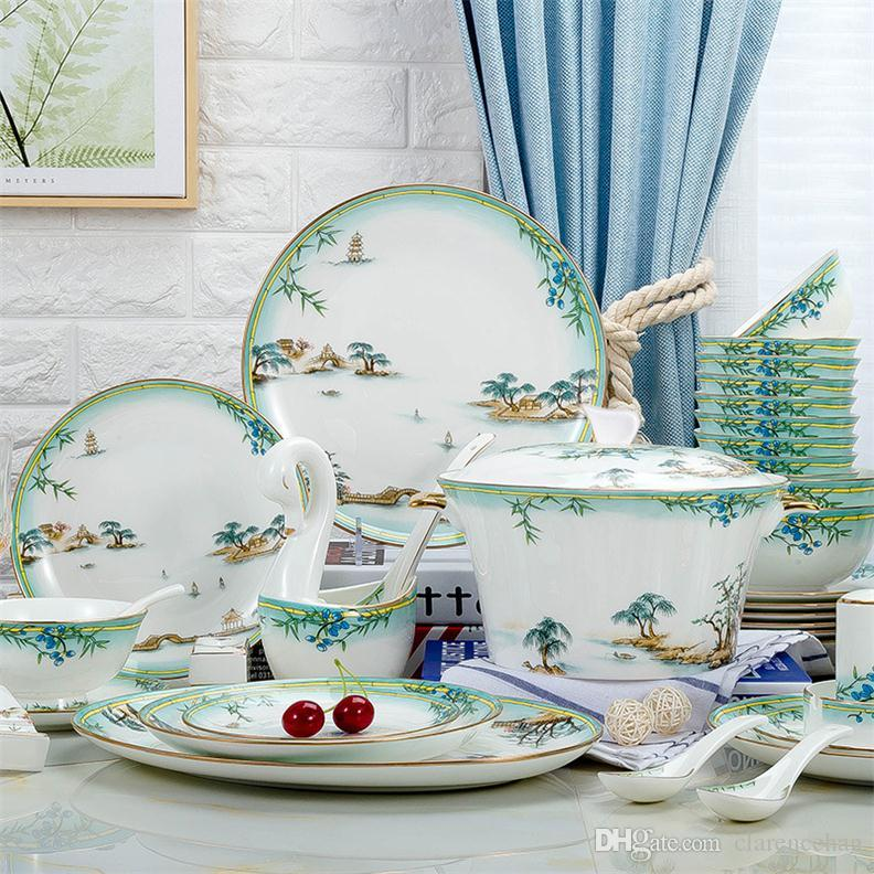 Delicieux Kitchen Tableware Dinnerware Sets Dishes Sets Plates Ceramic Dishes And  Plates China Dinnerware Household Items Bone China Sets Kitchen Tableware  Dinnerware ...