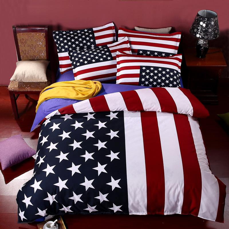 Wholesale British Flag American Flag Bedding Set High