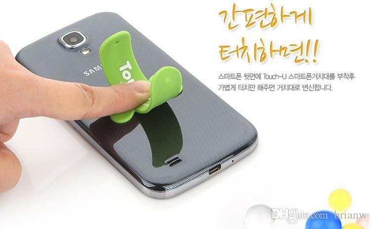 Touch-U Silicone mobile phone holder pops pat Lazy U-bracket corporate logo custom manufacturers