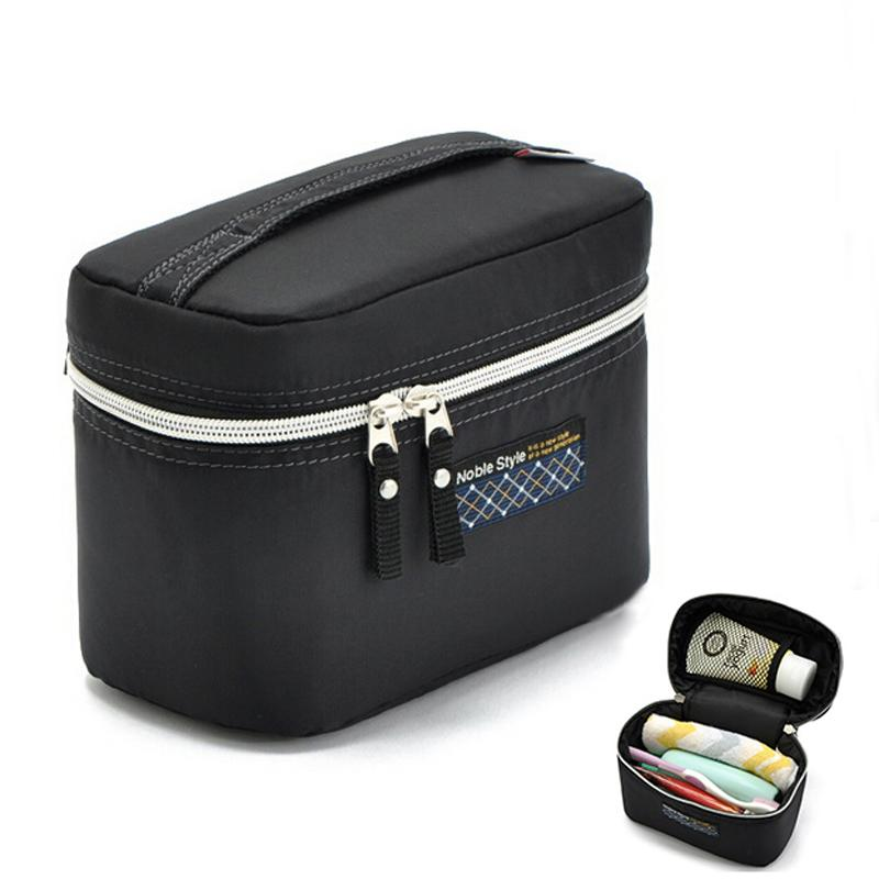 2018 Wholesale 2017 Promotion Womenu0027S Fashion Black Waterproof Nylon  Organizer Cosmetic Cases Makeup Storage Travel Toiletry Bags S009 From  Murie, ...