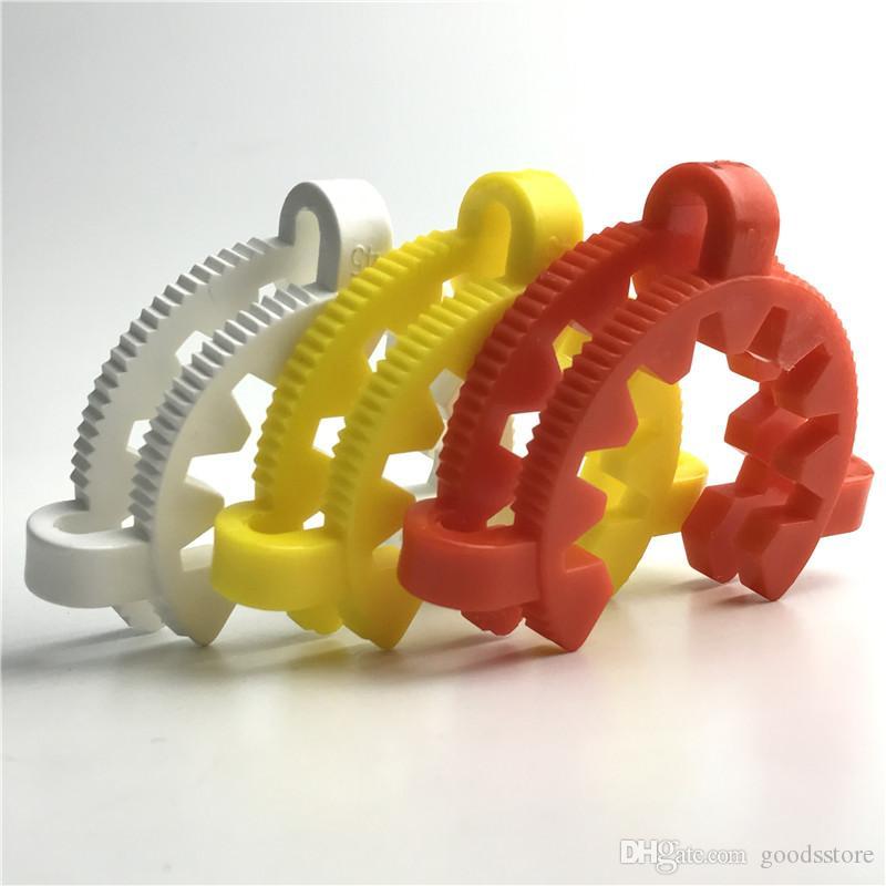 45mm en plastique keck clips pour verre bong adaptateur tuyaux d'eau fabricant laboratoire pince de serrage clip connecter pour verre sur les plates-formes pétrolières en verre